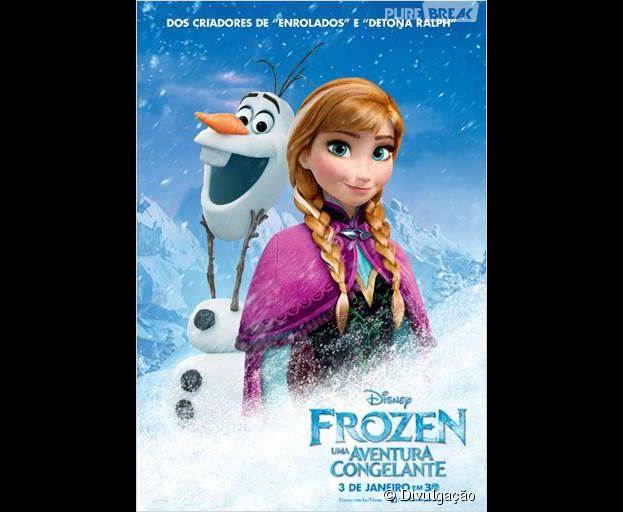 """Ana e Oloaf em """"Frozen"""", vencedor do Oscar de 2014. Destaque para o amor incondicional das irmãs Ana e Elsa"""
