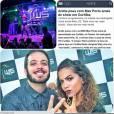 """Max Porto, ganhador do """"BBB9"""", publicou montagem de show de Anitta"""
