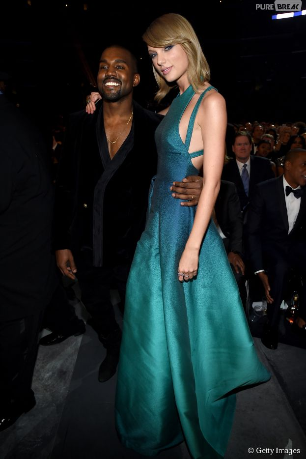 Taylor Swift e Kanye West posam juntos no Grammy 2015