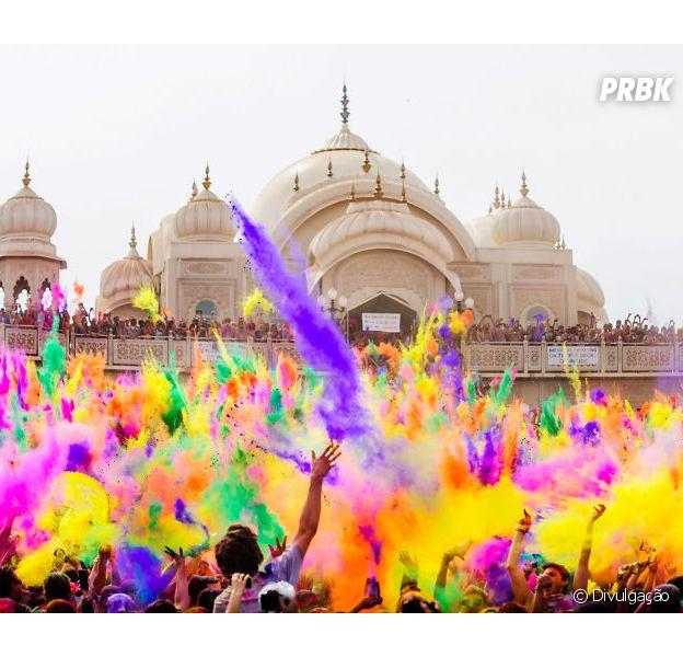 Festival Holi na Índia acontece em março. Com certeza uma das festas mais coloridas do mundo