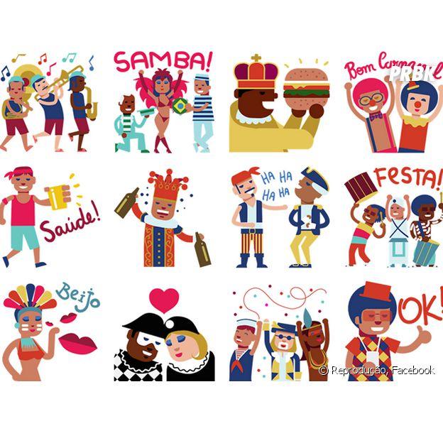 Folia no Facebook Messenger! Emojis de Carnaval estão disponíveis em pacote de stickers!