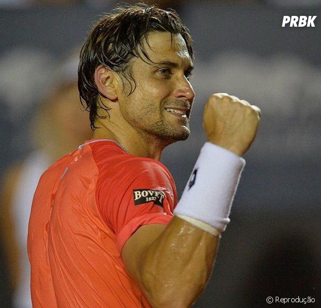 O espanhol David Ferrer, campeção do Rio Open 2015