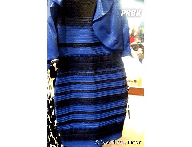 Qual a cor do vestido? Branco e dourado ou azul e preto? Assunto está causando polêmica na internet!