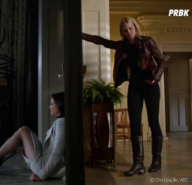"""Em """"Once Upon a Time"""", Regina (Lana Parrilla) e Emma (Jennifer Morrison) vão se juntar"""