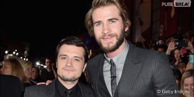 "Josh Hutcherson e Liam Hemsworth de ""Jogos Vorazes"""