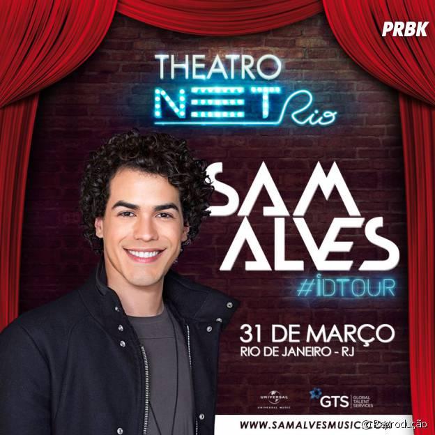 Sam Alves vai anuncia o primeiro show da turnê ID Tour