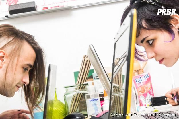 Amora Bettany e Pedro Medeiros trabalham juntos no estúdio MiniBoss