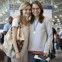 "Isabelle Drummond, a Júlia de ""Sete Vidas"", grava em aeroporto do Rio de Janeiro"