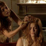 """Te contei? Em """"Alto Astral"""", Bélgica (Giovanna Lancellotti) corta o cabelo de Gaby (Sophia Abrahão)!"""