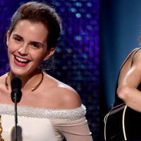 Emma Watson rouba a cena ao lado de Taylor Swift e é eleita a mulher mais notável de 2015
