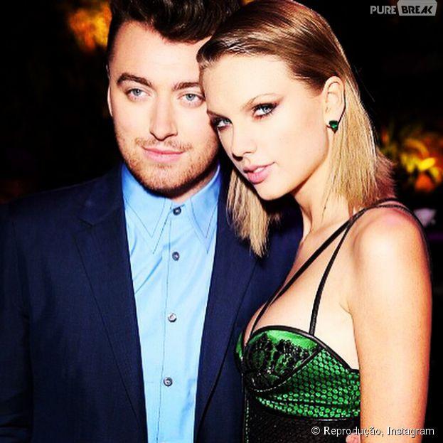 Taylor Swift e Sam Smith, que são grandes amigos, estão indicados a quatro categorias das cinco divulgadas do Billboard Music Awards 2015