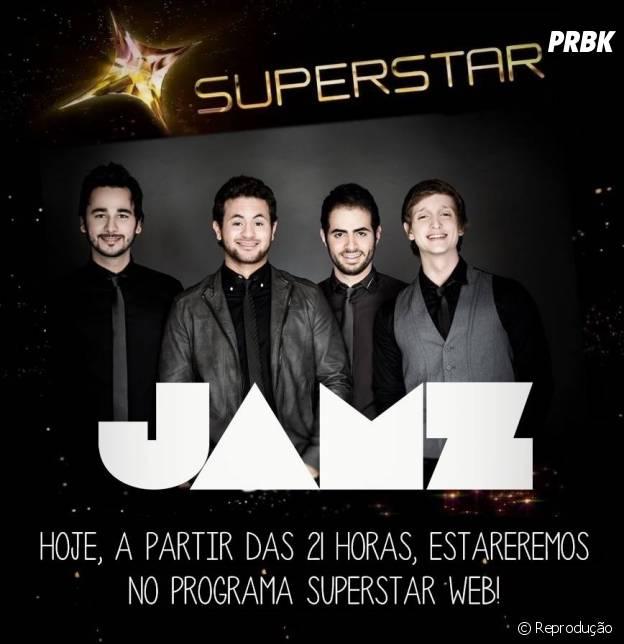 """Banda Jamz faz show no """"SuperStar Web"""""""