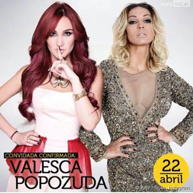 Dulce Maria e Valesca Popozuda vão se apresentar nesta quarta-feira (22)!