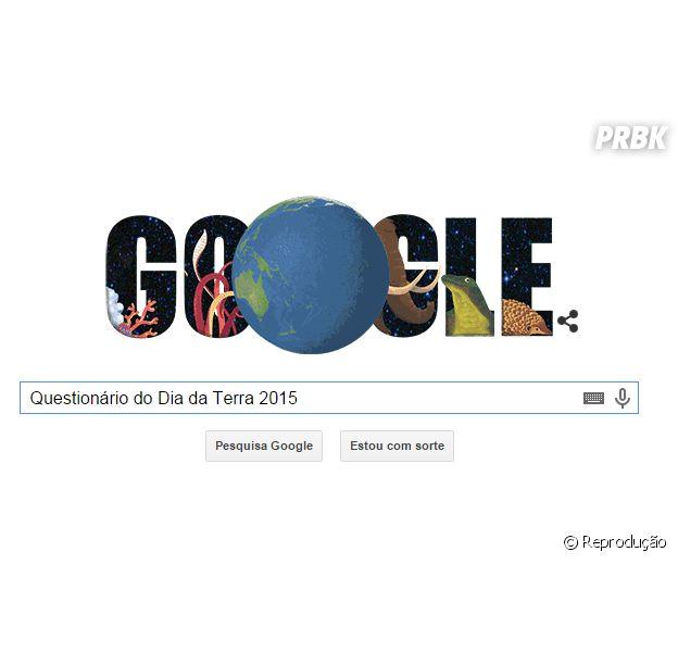 """Google lança doodle animado no """"Dia da Terra 2015"""" e descobre qual bicho é a sua cara!"""