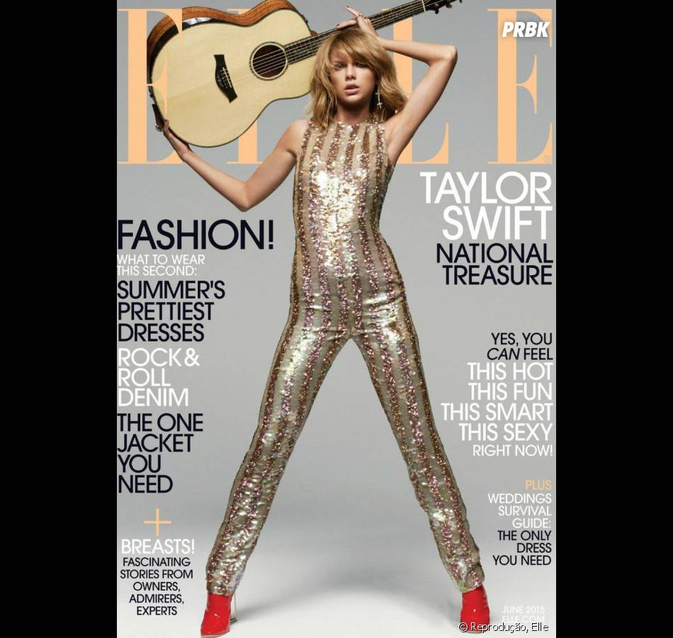 Taylor Swift é capa da revista Elle de junho, disponível nas bancas de jornal dos Estados Unidos a partir do dia 19 de maio