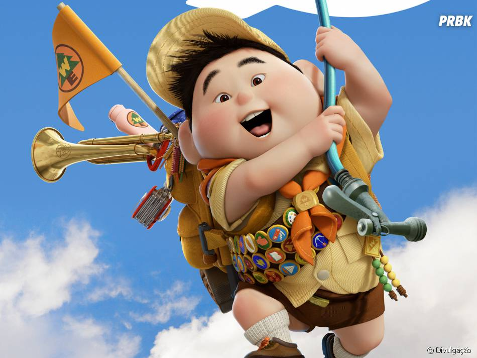 "Russell usa uniforme de escoteiro em ""Up - Altas Aventuras"""
