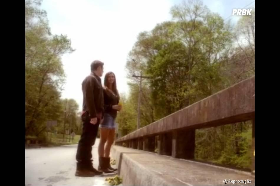 """Em """"The Vampire Diaries"""", Matt (Zach Roerig) se emocionou muito dizendo adeus para Elena (Nina Dobrev)"""