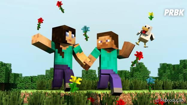 """Um dos games que une bastante o casal é """"Minecraft'"""
