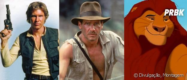 """Han Solo (Harrison Ford), Indiana Jones (Harrison Ford) e Mufasa de """"O Rei Leão"""" são as escolhas do elenco de """"Once Upon a Time"""""""