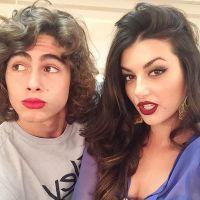 """Rafael Vitti, de """"Malhação"""", posa de batom com Anaju Dorigon e recebe elogio de seguidores: """"Diva"""""""