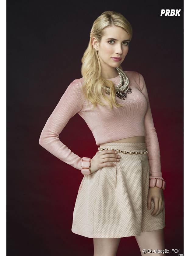 """Emma Roberts é Chanel, a protagonista de """"Scream Queens"""""""