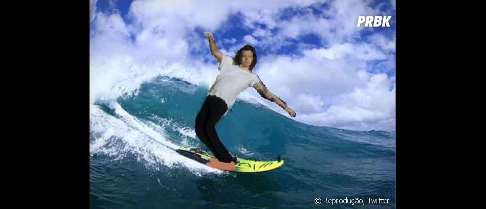 Harry, só não vale cair da prancha! #OhNoHarry
