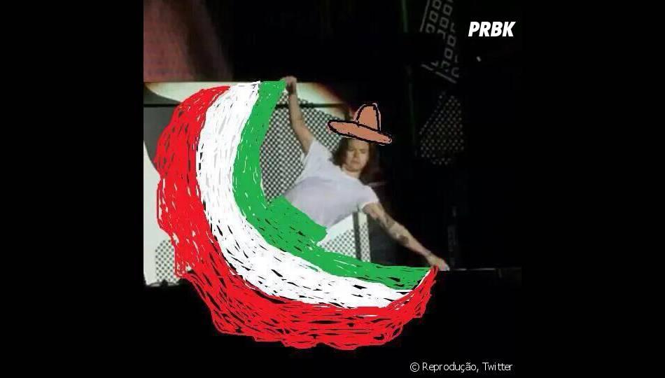 Harry Styles, do One Direction, daria um bom dançarino de música mexicana?