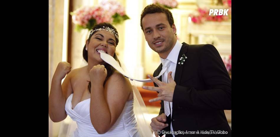 Perséfone (Fabiana Karla) e Daniel (Rodrigo Andrade) vão casar em cerimônia emocionante na trama das 21 horas da Globo!