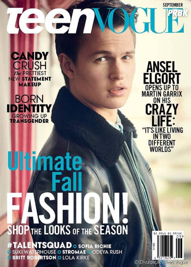 Ansel Elgort é capa e recheio da Teen Vogue
