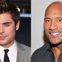"""Zac Efron e Dwayne Johnson, de """"Velozes & Furiosos 7"""", podem se juntar em filme de """"Baywatch"""""""