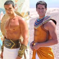 """Duelo """"Os Dez Mandamentos"""": Ramsés (Sérgio Marone) ou Moisés (Guilherme Winter)? Quem é o mais gato?"""