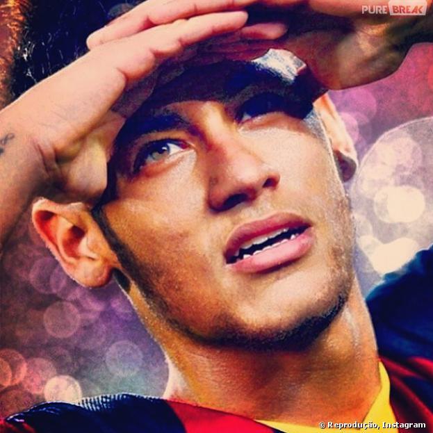 """Com uma foto em que aparece com expressão de preocupação, Neymar tenta superar as polêmicas de traição. """"Não deixe escapar quem você ama de verdade por coisas 'momentâneas'!"""""""