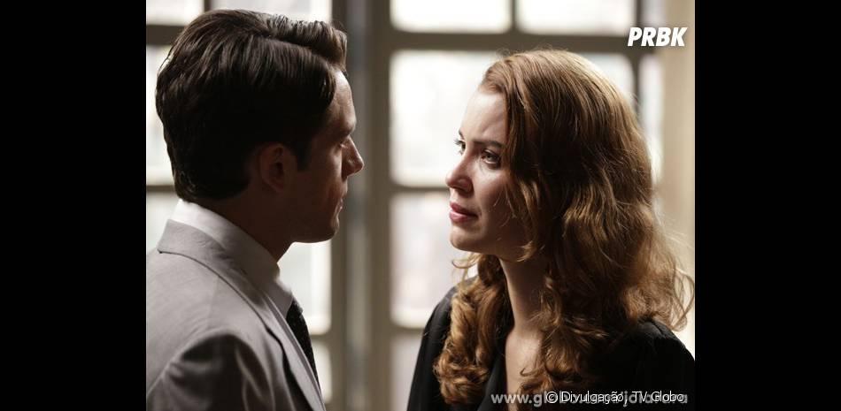 """Silvia (Nathalia Dill) confessa para Viktor (Rafael Cardoso) em """"Joia Rara"""" que é filha do maior inimigo do pai dele!"""