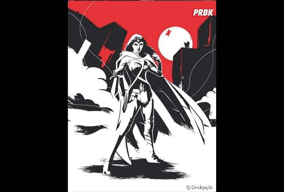 """""""Batman V Superman: A Origem da Justiça"""" ganhou novas artes, com a Mulher-Maravilha!"""