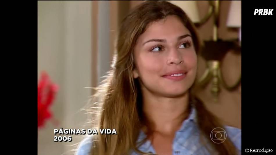 """O primeiro papel de Grazi Massafera como atriz foi na pele de Thelma, na novela """"Páginas da Vida"""" em 2006."""