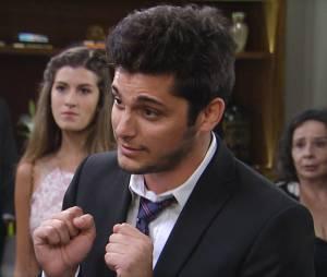 """Guto (Bruno Gissoni) quase estraga casamento deAlice (Sophie Charlotte) e Evandro (Cássio Gabus Mendes) em """"Babilônia"""""""