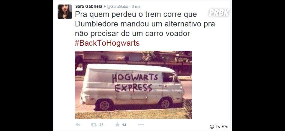 """O Hogwarts Express alternativo também é uma boa maneira de se chegar no mundo de """"Harry Potter"""""""