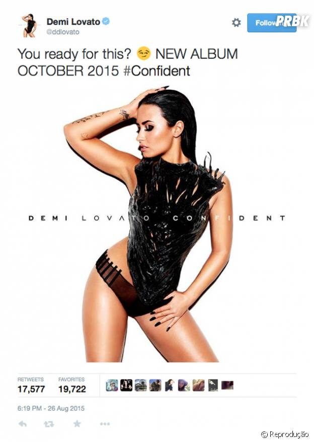Demi Lovato divulga capa do novo CD
