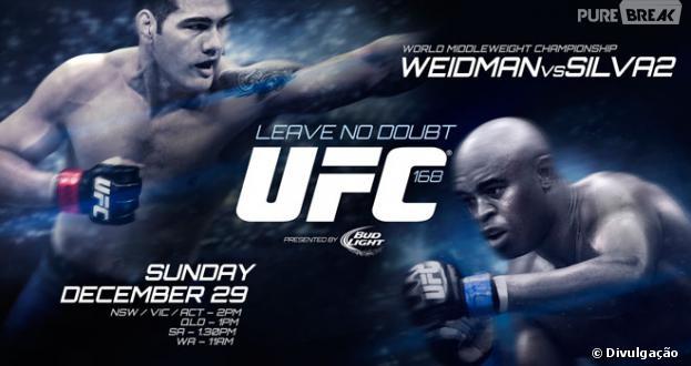 """Anderson Silva e Chris Weidman se enfrentarão novamente no """"UFC 168""""!"""