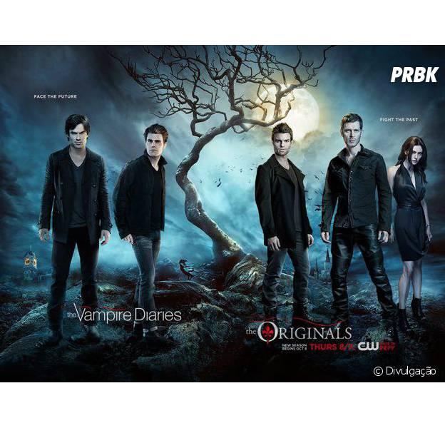 """Pôster de """"The Vampire Diaries"""" e """"The Originals"""" revela guerra entre passado e futuro!"""