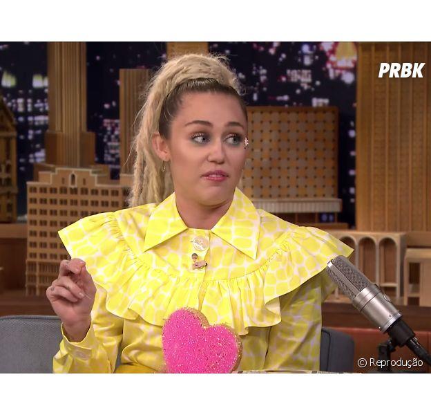 Miley Cyrus esteve no talk show americano de Jimmy Fallon e fez altas revelações!