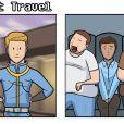 Nos jogos as viagens são bem rápidas, já na vida real...
