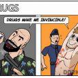 As drogas possuem efeitos diferentes na vida real e nos games