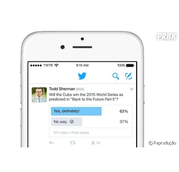 Twitter terá recurso para fazer perguntas e enquetes