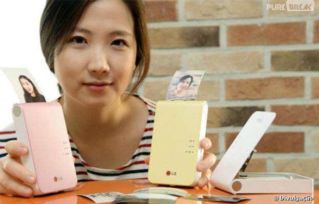 LG Pocket Photo 2 tem várias cores para escolher