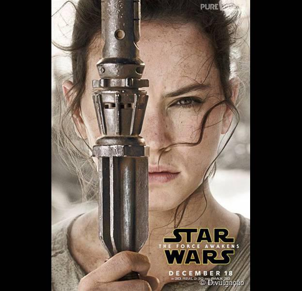 """Star Wars VII"":  Rey (Daisy Ridley) também protagoniza o filme"