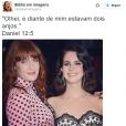O perfil @bibliaemimagens ama Florence Welch e Lana Del Rey