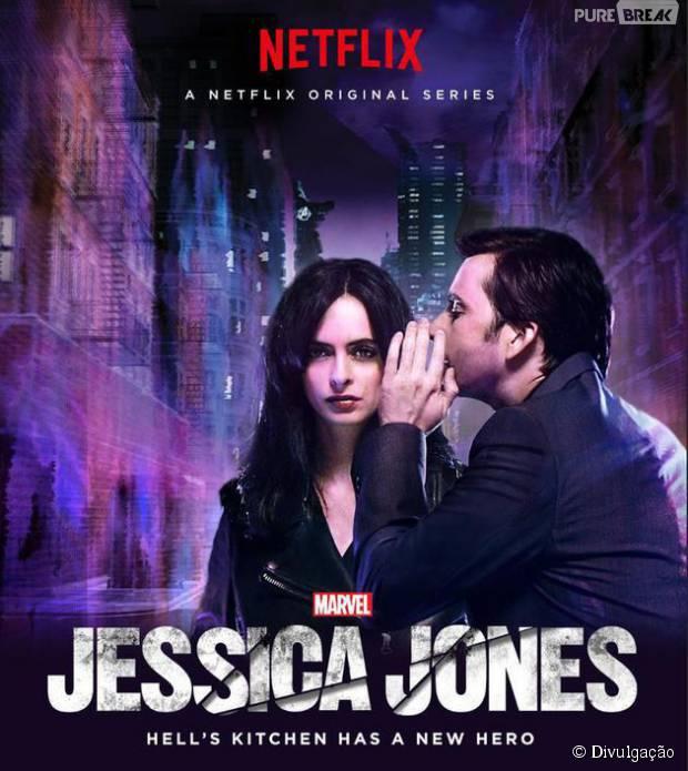 """Em """"Marvel's Jessica Jones"""", Homem Púrpura (David Tennant) sussura algo no ouvido da protagonista!"""