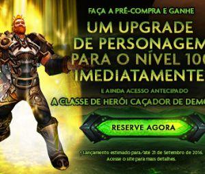 """Nova expansão """"World Of Warcraft: Legion"""" permitirá evoluir um personagem automaticamente para o nível 100"""