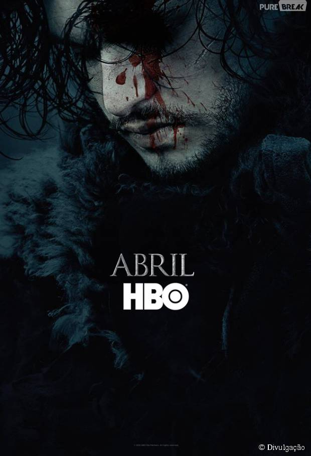 """Em """"Game of Thrones"""": Jon Snow (Kit Harington) aparece em novo pôster da 6ª temporada!"""